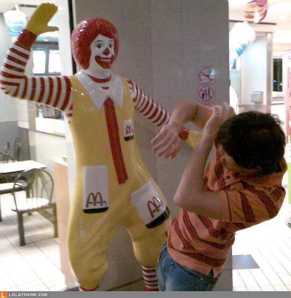 Violent Ronald McDonald