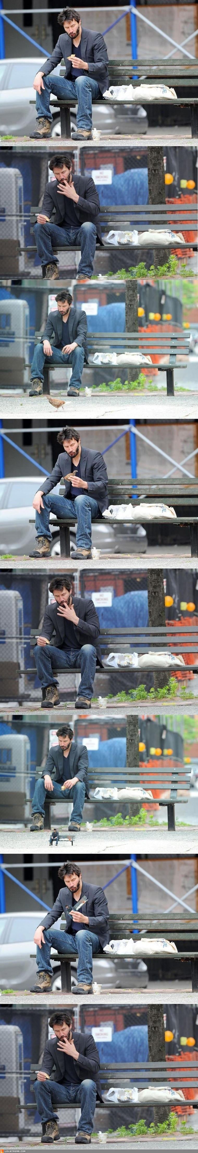 Hungry Keanu Is Hungry.