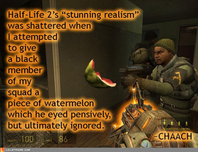 "Half-Life 2's ""stunning realism""..."