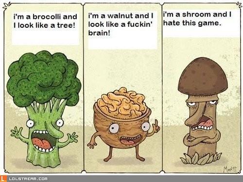 We're vegetables!
