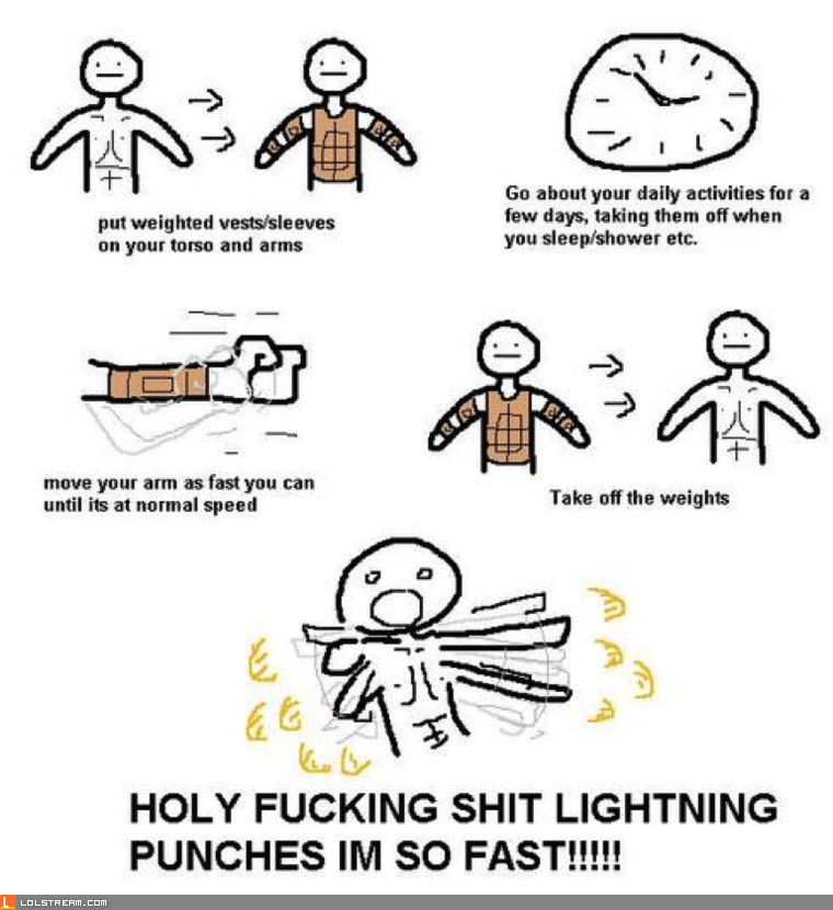 Lightning punches