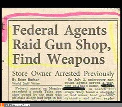 Federal Agents raid gun shop and find something unsettling...
