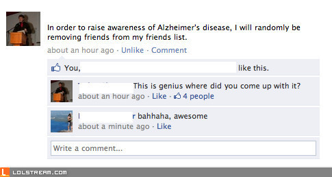 Facebook Alzheimer's Awareness