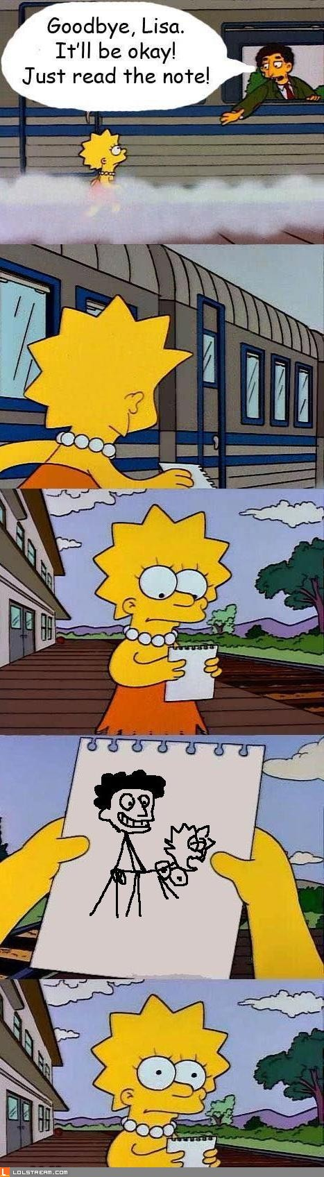 Goodbye, Lisa.