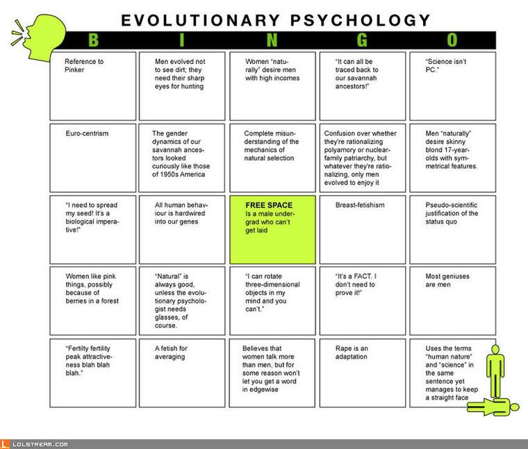 Evolutionary Psychology Bingo!