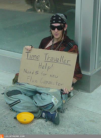 Time Travelling Begger