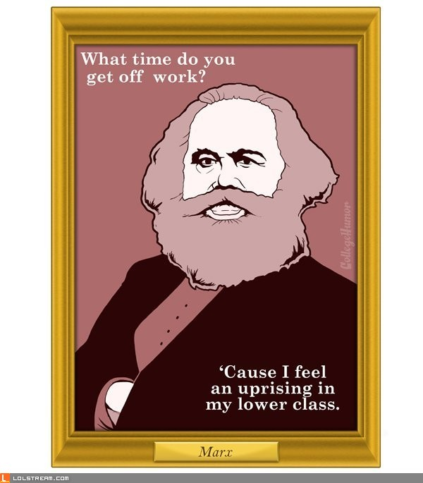 Karl Marx chat up line