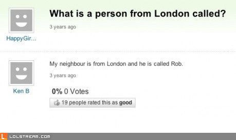 What is a person from London called?