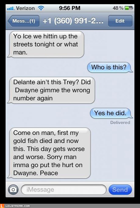 Wrong number?