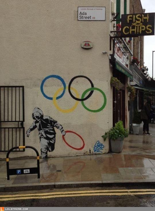 Olympic Ring Graffiti