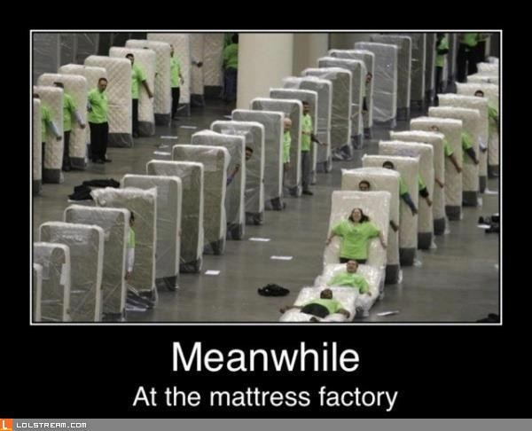 Meanwhile At The Mattress Factory