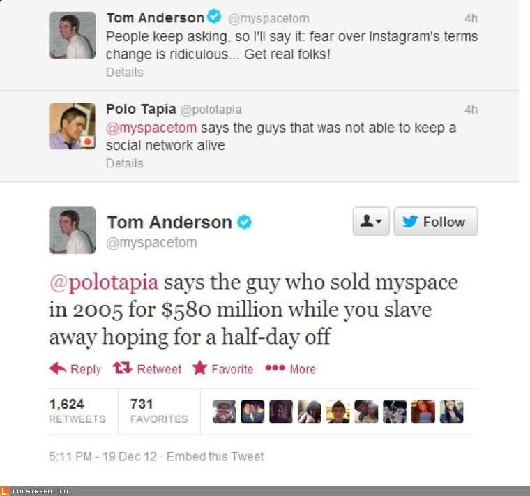 Myspace Founder Burn
