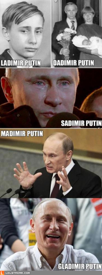 The Many Faces Of Putin