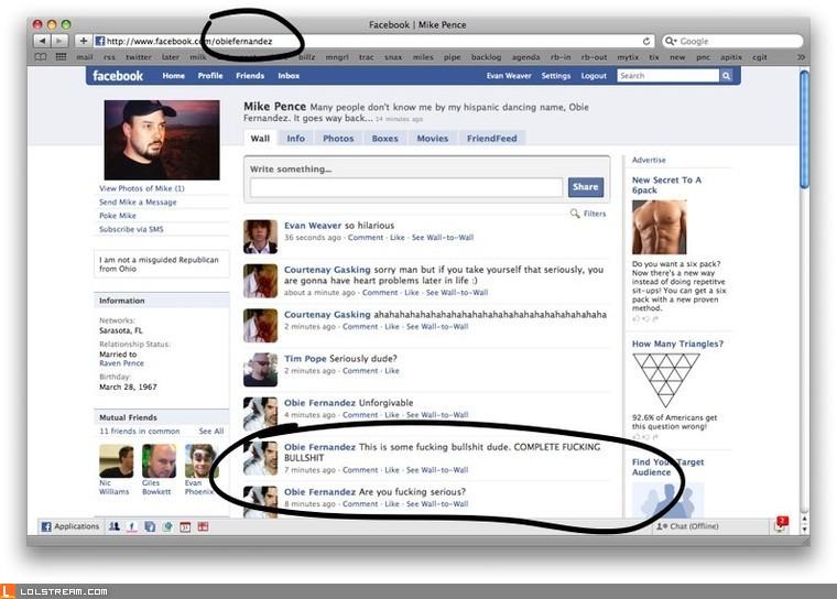 Facebook Vanity URL Destroys Friendship