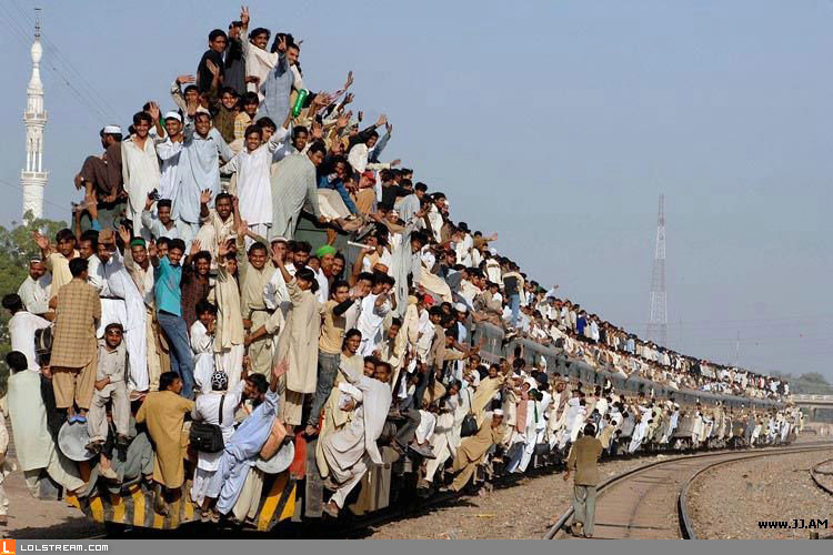 Rush hour in Pakistan