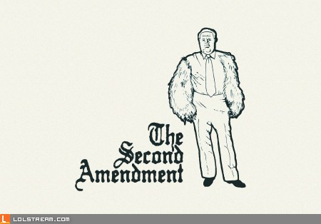 The right to bear arms...