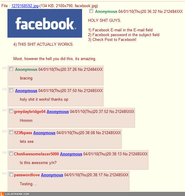 """Post to Facebook"" trolled"