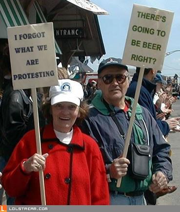 Typical protestors