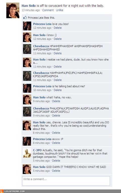Han Solo Facebook
