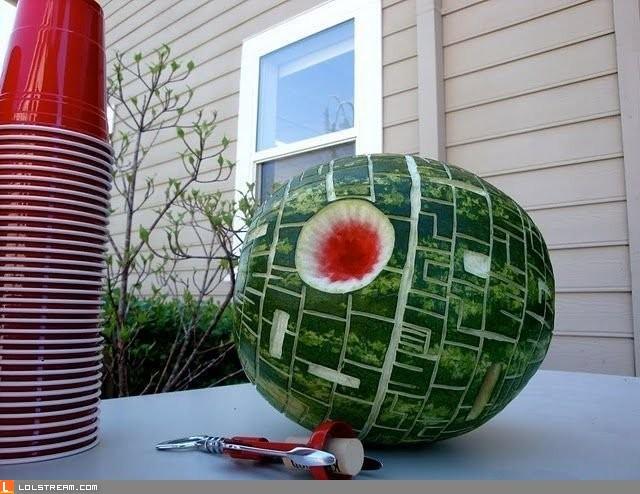 That's no moon... That's a melon