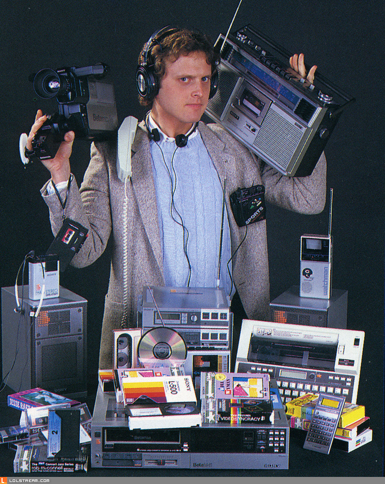This guy has all the latest gadgets
