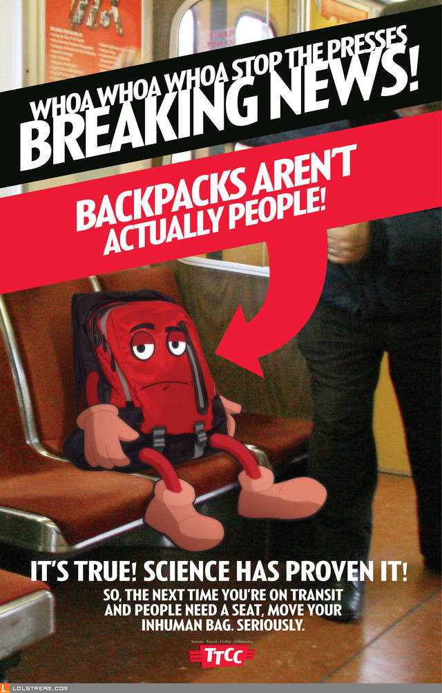 Breaking News regarding Backpacks