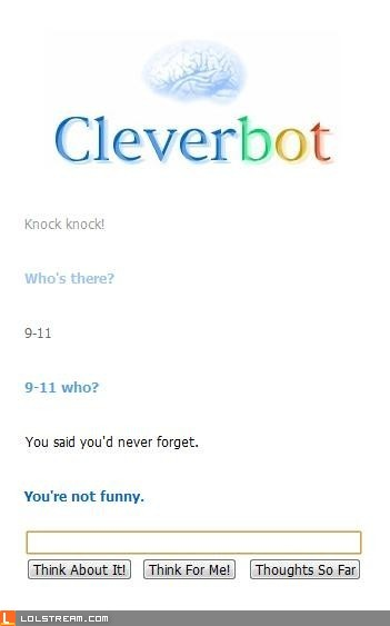 Cleverbot doesn't appreciate your dark humor