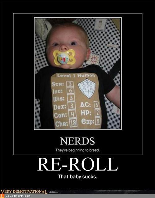 Nerd baby sucks