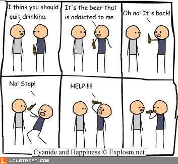 Beer addiction