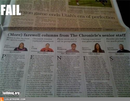 Newspaper headline fail