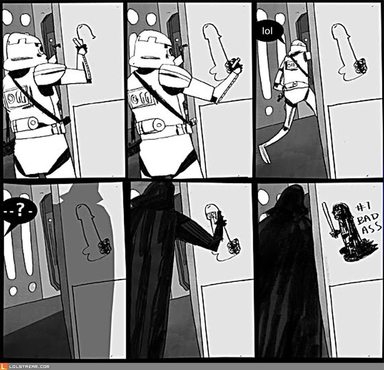 Darth Vader knows how to deal with graffiti
