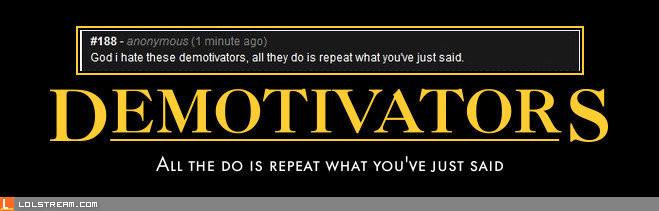 I hate motivators