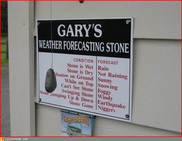 Weather Forcasting Stone