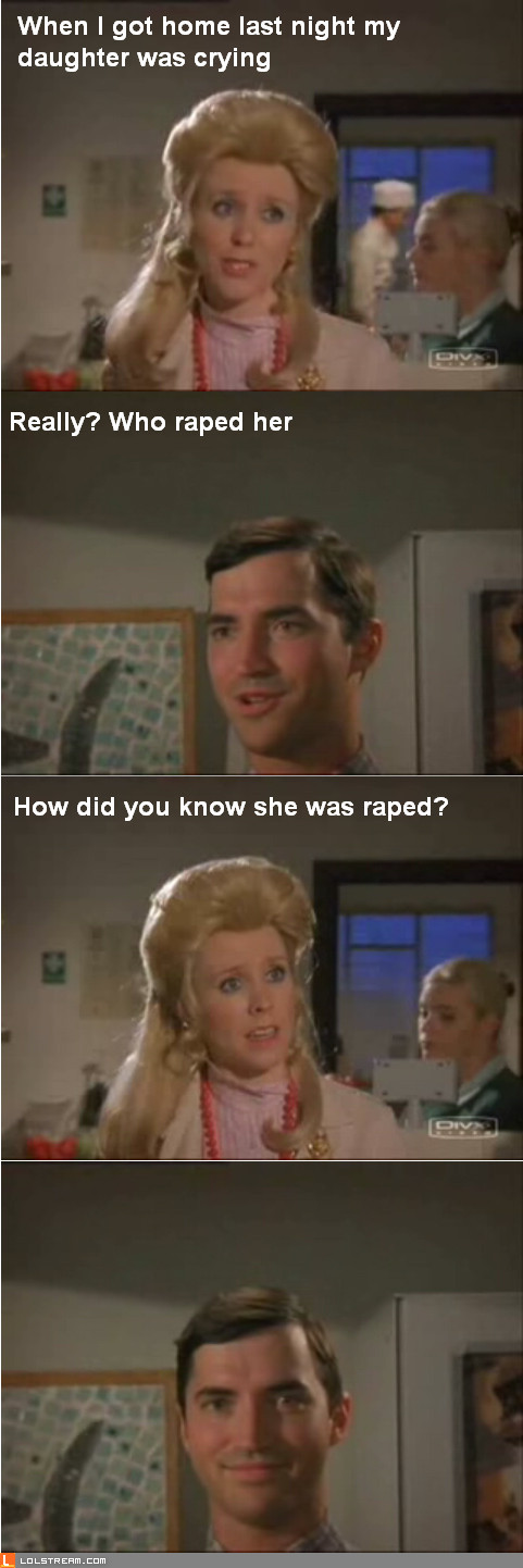 Who raped her?
