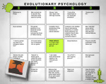 Evolutionary Psychology Bingo!