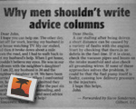 Why Men Shouldn&#039;t Write Advice Columns