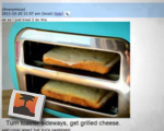 Grilled cheese fail