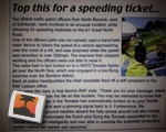 Epic Speeding Ticket