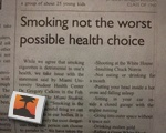 Smoking Not Worst Health Choice