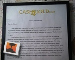 Cash 4 Gold Letter