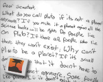 Child's letter to scientist