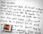 Child's letter to scientist