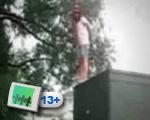 Girl jump fail