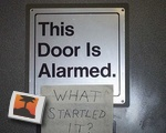 This Door Is Alarmed.